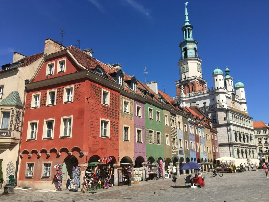 Feeling like a tourist exploring the gorgeous old town square in Poznan