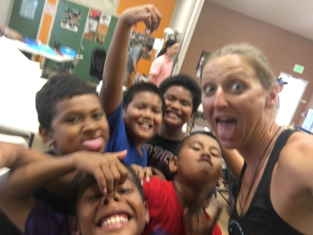 Selfie time on the Kona Kids Treasure Hunt