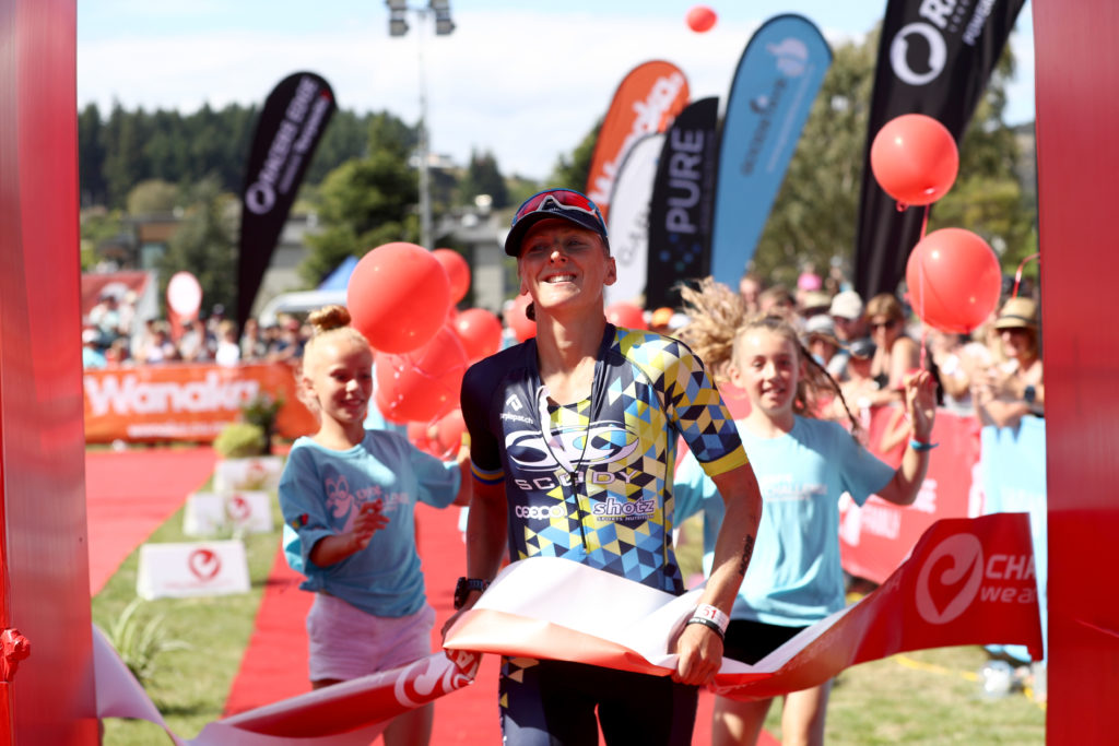 WANAKA, NEW ZEALAND - FEBRUARY 18: Laura Siddall of Great Britain finishes second in the 2017 Challenge Wanaka on February 18, 2017 in Wanaka, New Zealand. (Photo by Phil Walter/Getty Images) *** Local Caption *** Laura Siddall