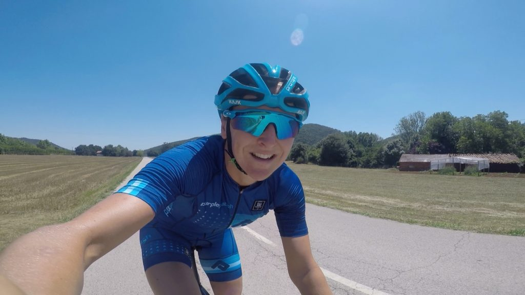 All smiles when riding here in Girona