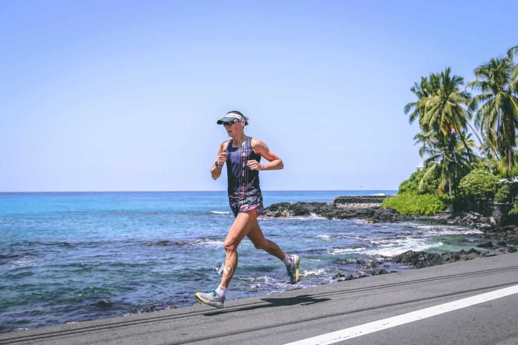 Running along Ali'i Drive pre race