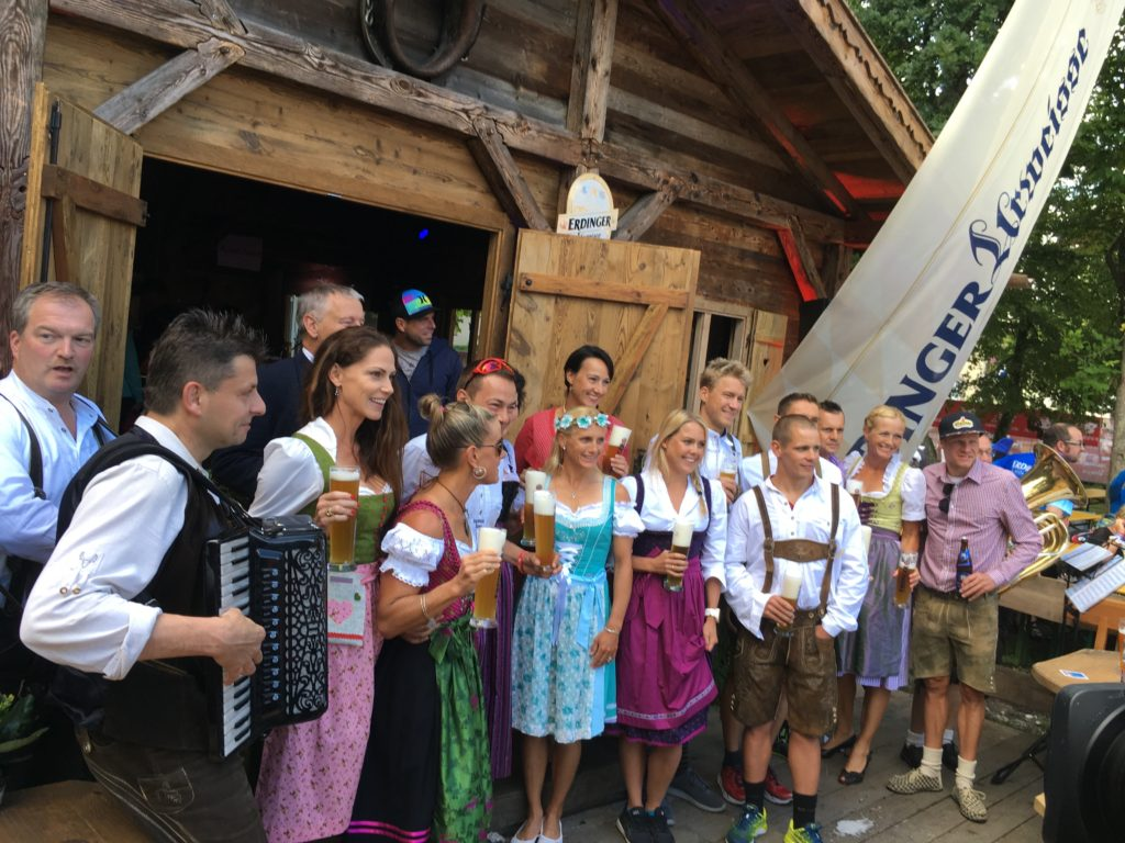The Erdinger Party - tradition for the Pros to dress in traditional Bavarian dress