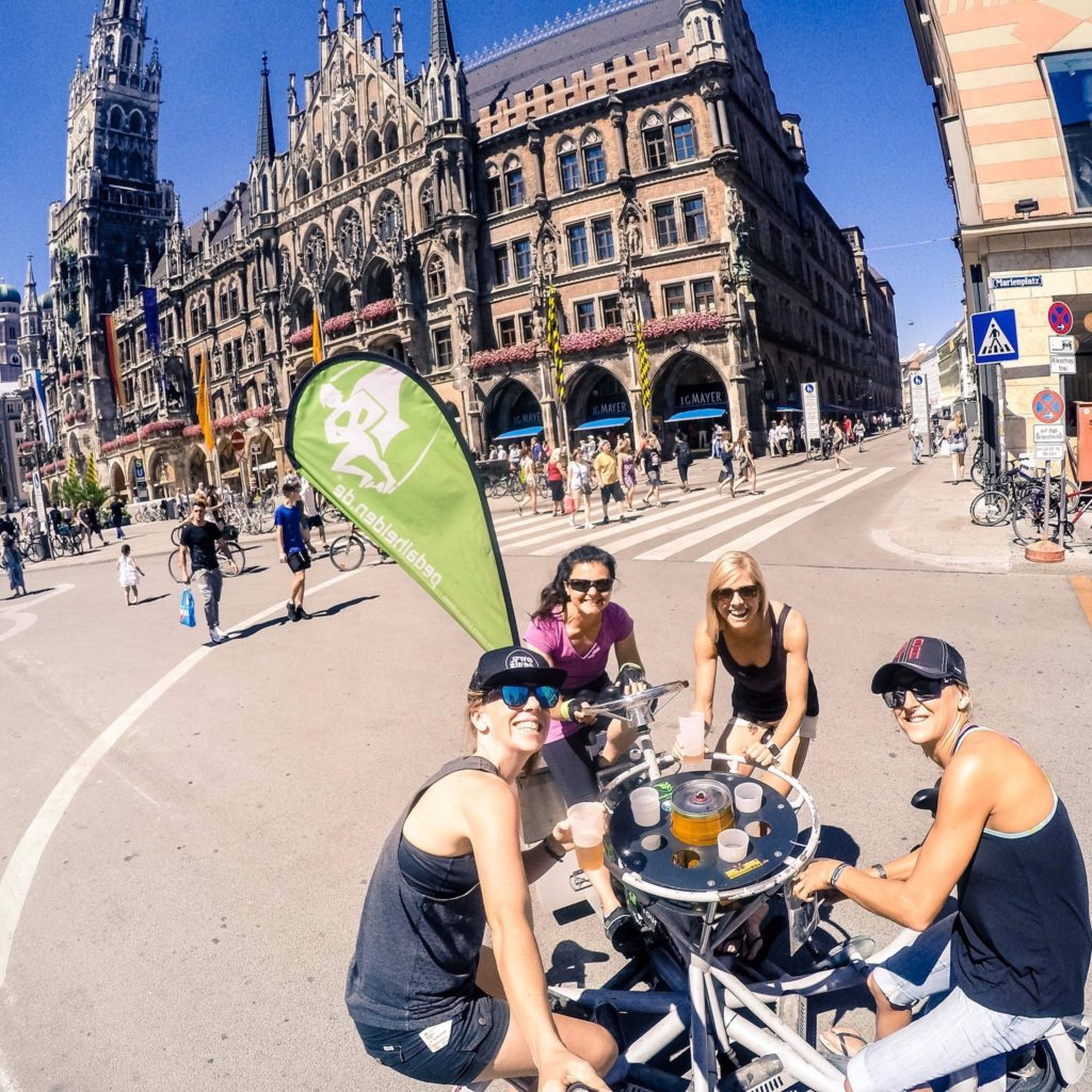 Beers and Bikes in Munich! (It's training / recovery right??) - pic Stef Hanson