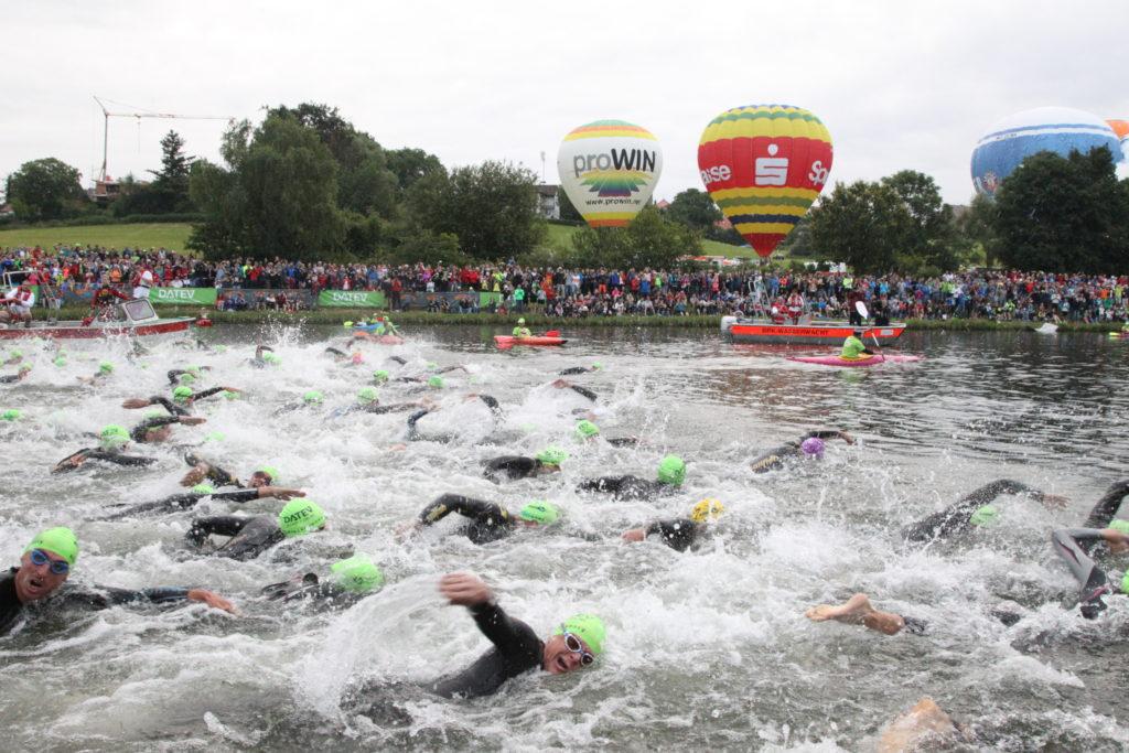 Craziness at the swim start!