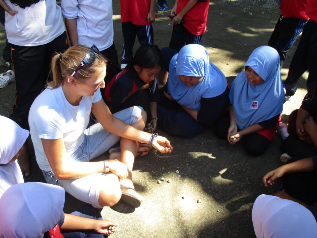 Traditional playground games.. I was pretty useless but it was a lot of fun. Still haven't mastered it!
