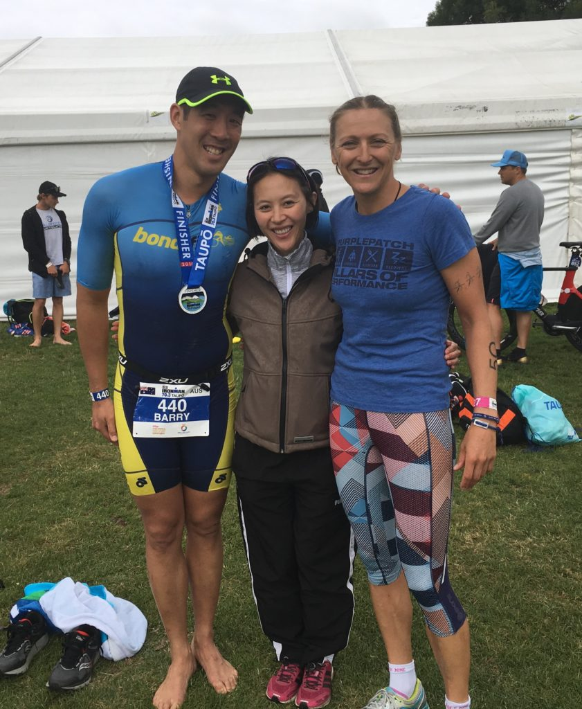 Catching up with Sydney friends in Taupo - need to get Barry some Purplepatch kit now as a PP athlete!!