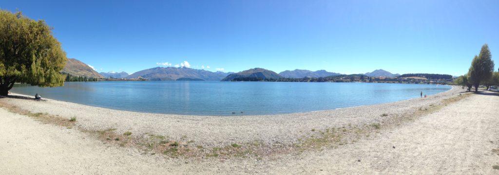 Lake Wanaka where the swim course is