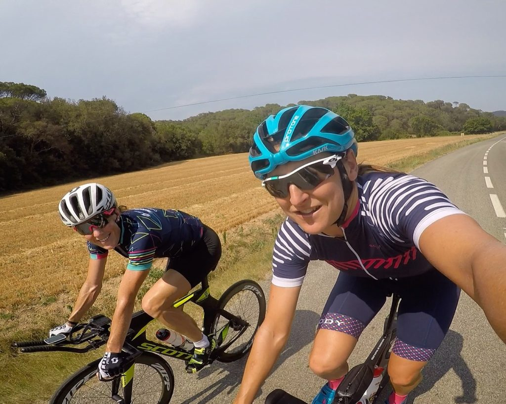 Friday arvo chats with Scody team mate Annabel Luxford