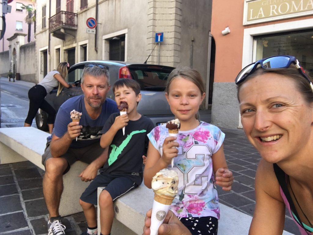 The best cycle for the best ice cream! It's a big call, but we were in Italy, and it was AMAZINGLY good!